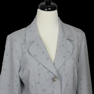 Gray Floral Suit Jacket Blazer NYCC